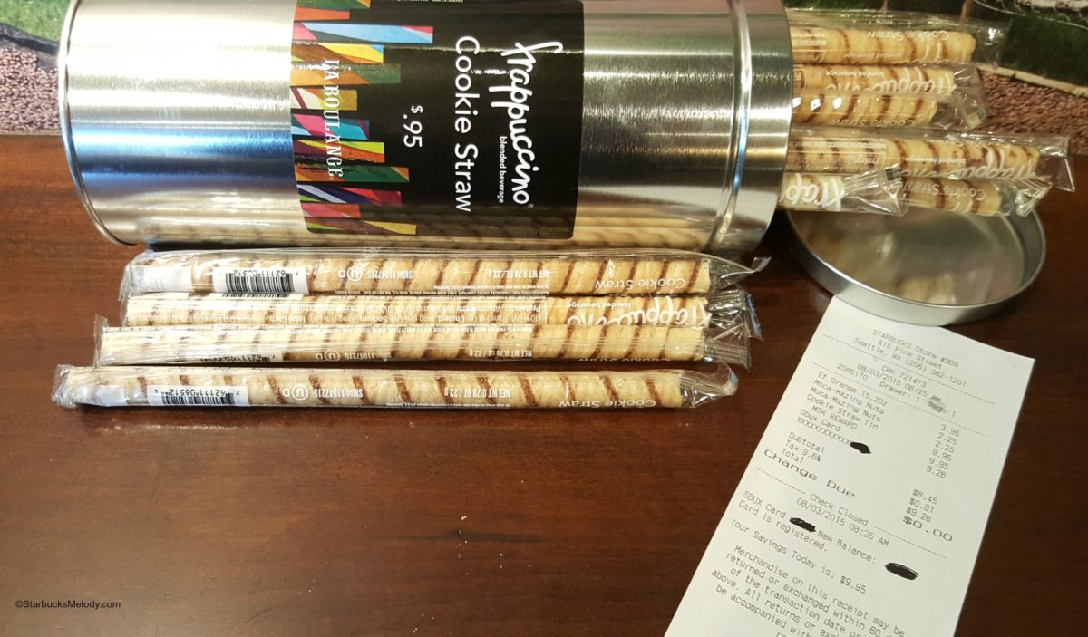 How to get a free tin of Starbucks cookie straws.