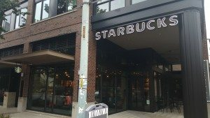 2 - 1 - 20150815_083208 Front of West Seattle Junction Starbucks 15Aug15