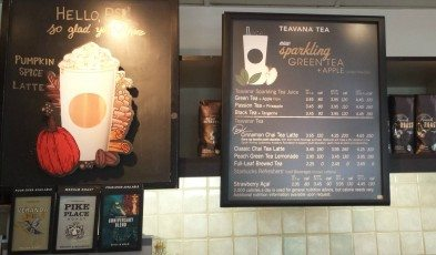 1 - 1- 20150910_094622 signage for apple green tea fizzed in a san diego county Starbucks
