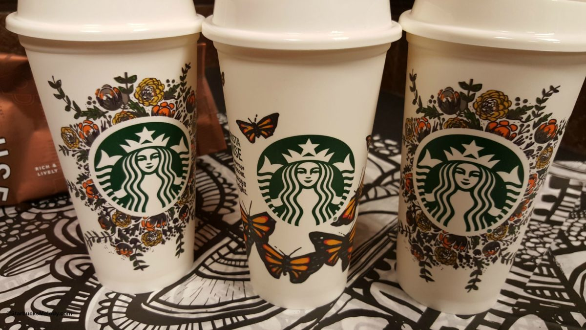 Butterfly Starbucks Cup Beautiful Butterfly Picture