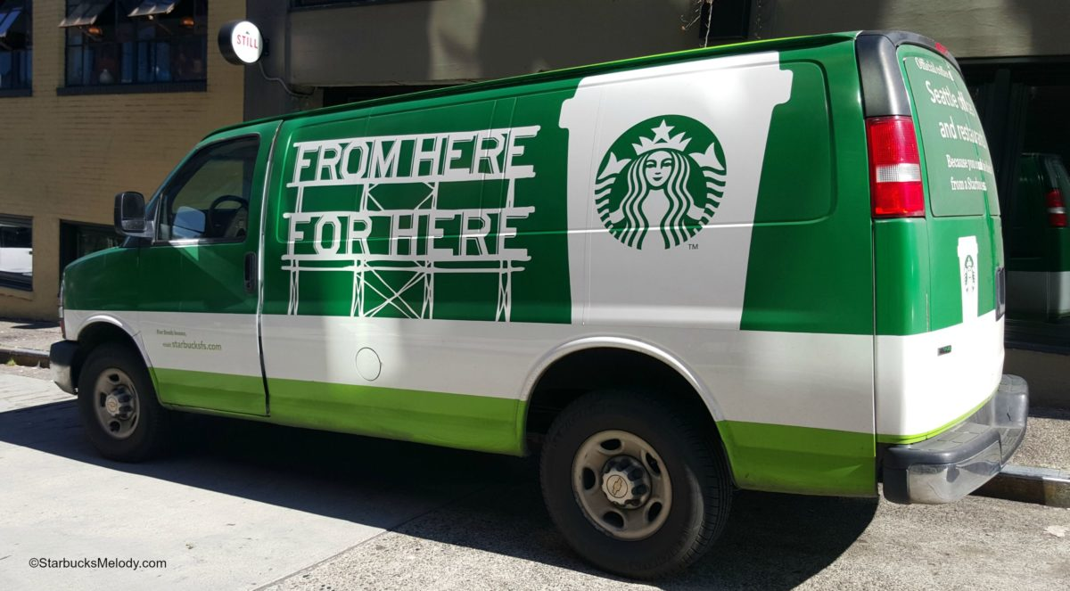 #tbt The Starbucks Freshly-Roasted Coffee Delivery Truck!