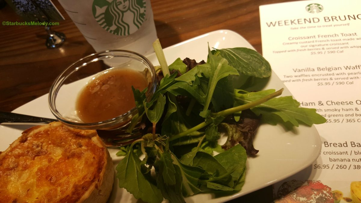 Weekend Brunch at Starbucks: Waffles, Quiche, and French Toast