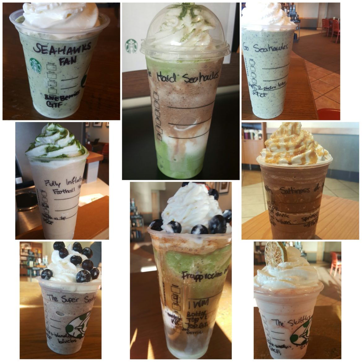 8 Seahawks-Inspired Frappuccinos: Touch Down!