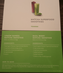 Smoothie Matcha Recipe Cards