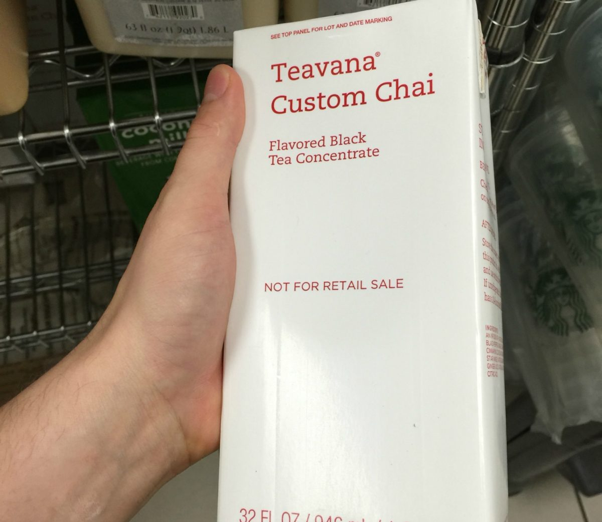 The Teavana Custom Chai Tea Test.