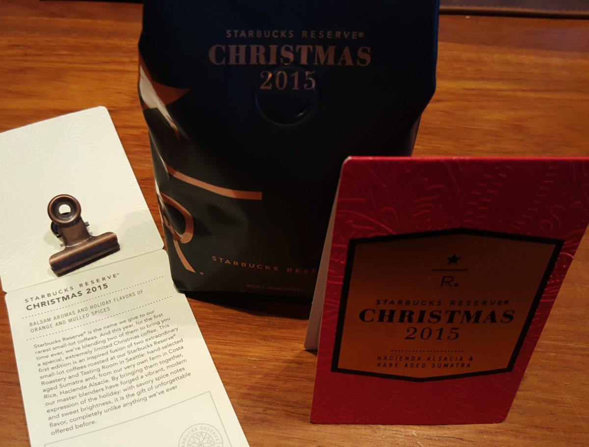 GIVEAWAY: Starbucks RESERVE Christmas Coffee.