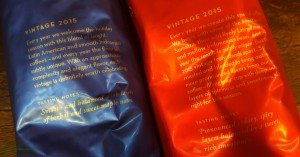 2 - 1 - 20151109_184927 side by side look at package descriptions holiday blend christmas blend