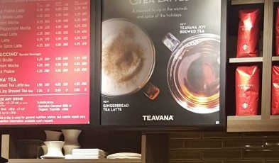 2 - 1 - 20151113_080644 signage for gingerbread tea latte tumwater Starbucks