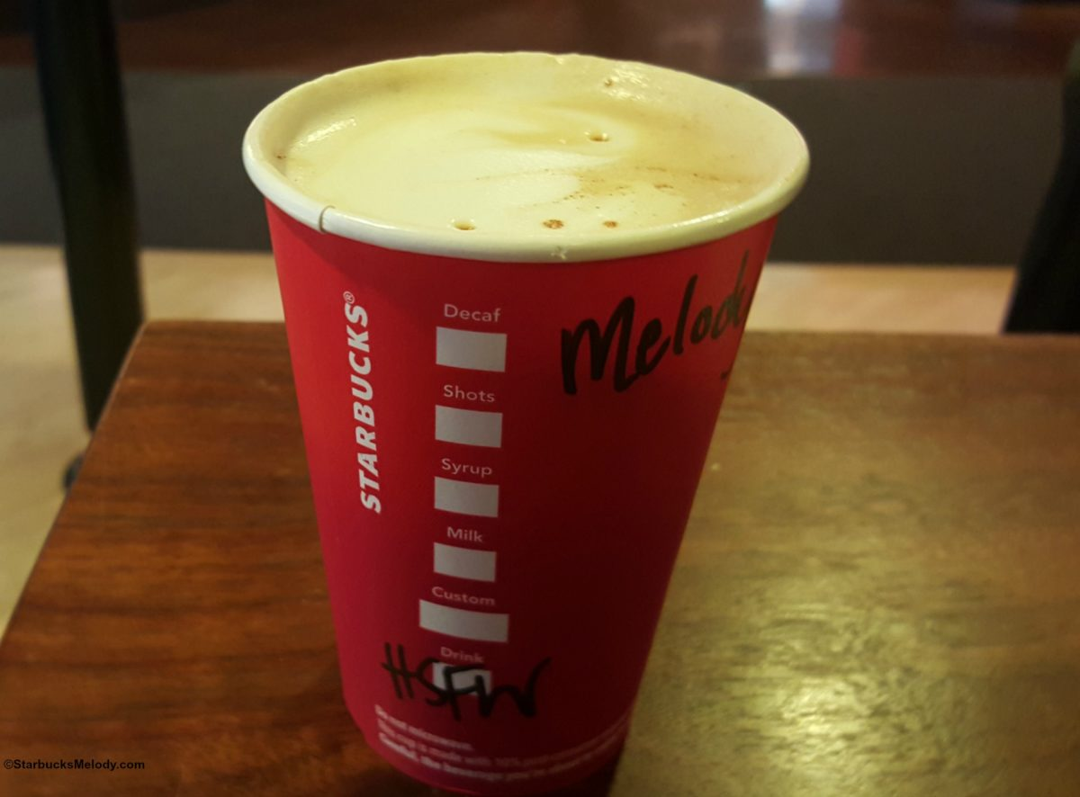 The Holiday Spice Flat White: All New Starbucks Drink beginning November 30th.