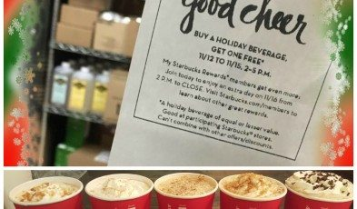 Buy One Get one Free Holiday Drinks