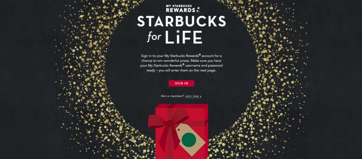 Starbucks For Life is Back! Win Starbucks For Life!