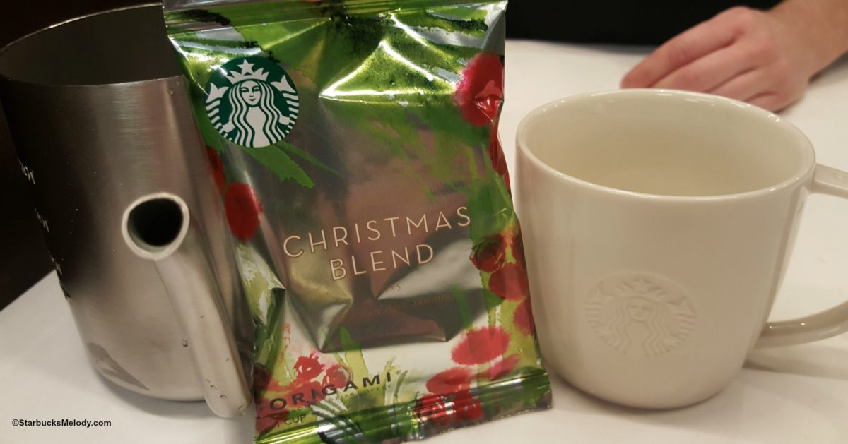 starbucks christmas blend the origami version