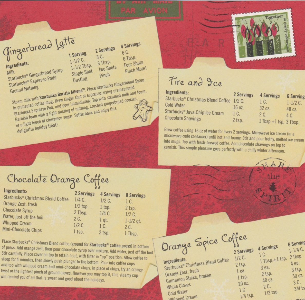 Chocolate Orange Starbucks Christmas Blend Coffee