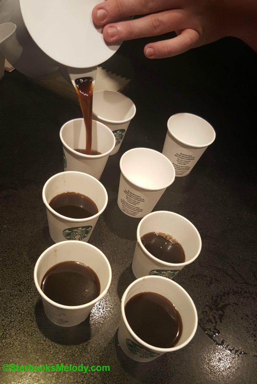 Sample Cups Of Starbucks