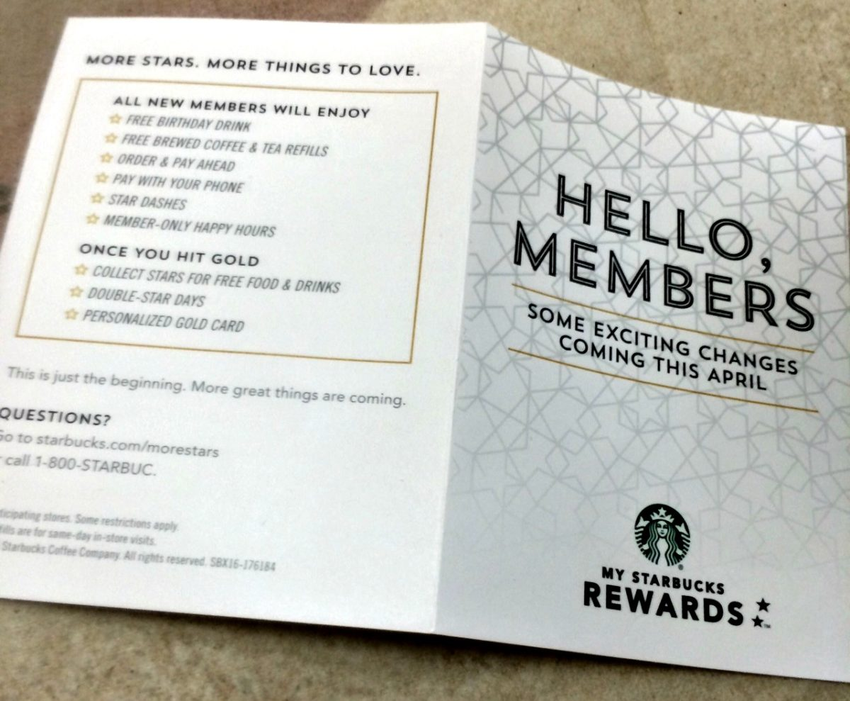 Let's Talk New MyStarbucksRewards, starting early April 2016.