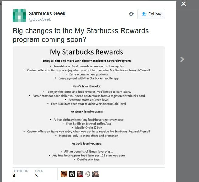 Big Changes Coming to My Starbucks Rewards?