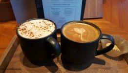 2 1 - 20160130_095352[1] honey rooibos latte and mole mocha at the Starbucks Roastery