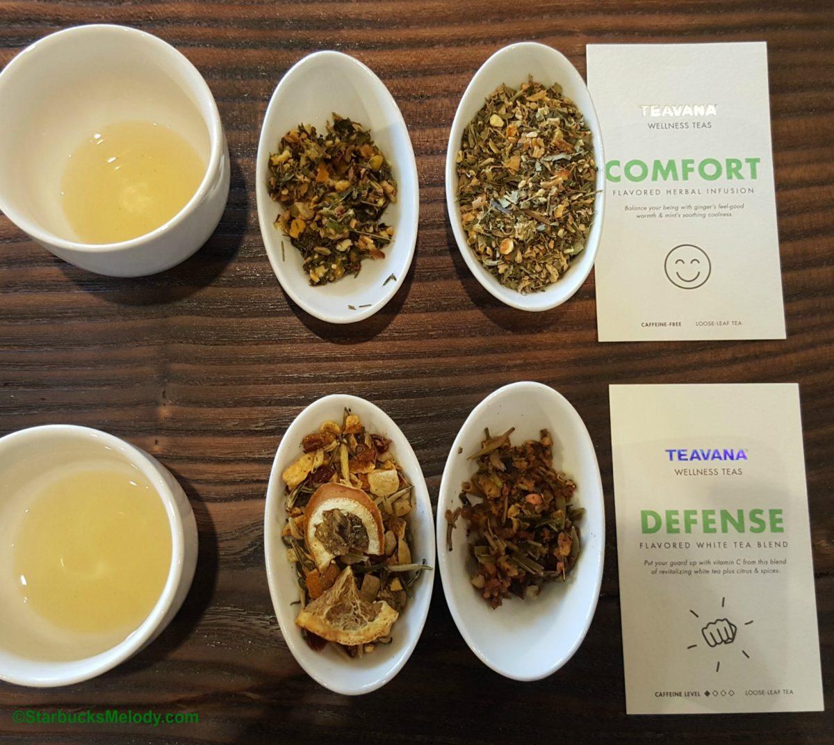 Comfort and Defense Wellness Teas at Teavana: Tea Tasting.
