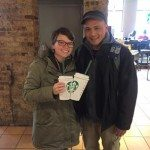 Mitch and Megan in Chicago Starbucks Valentine's Day 2016