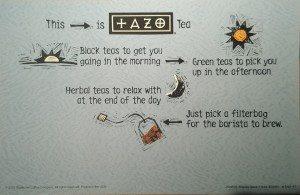 Tazo signage from Jan 2001 - StarbucksMelody