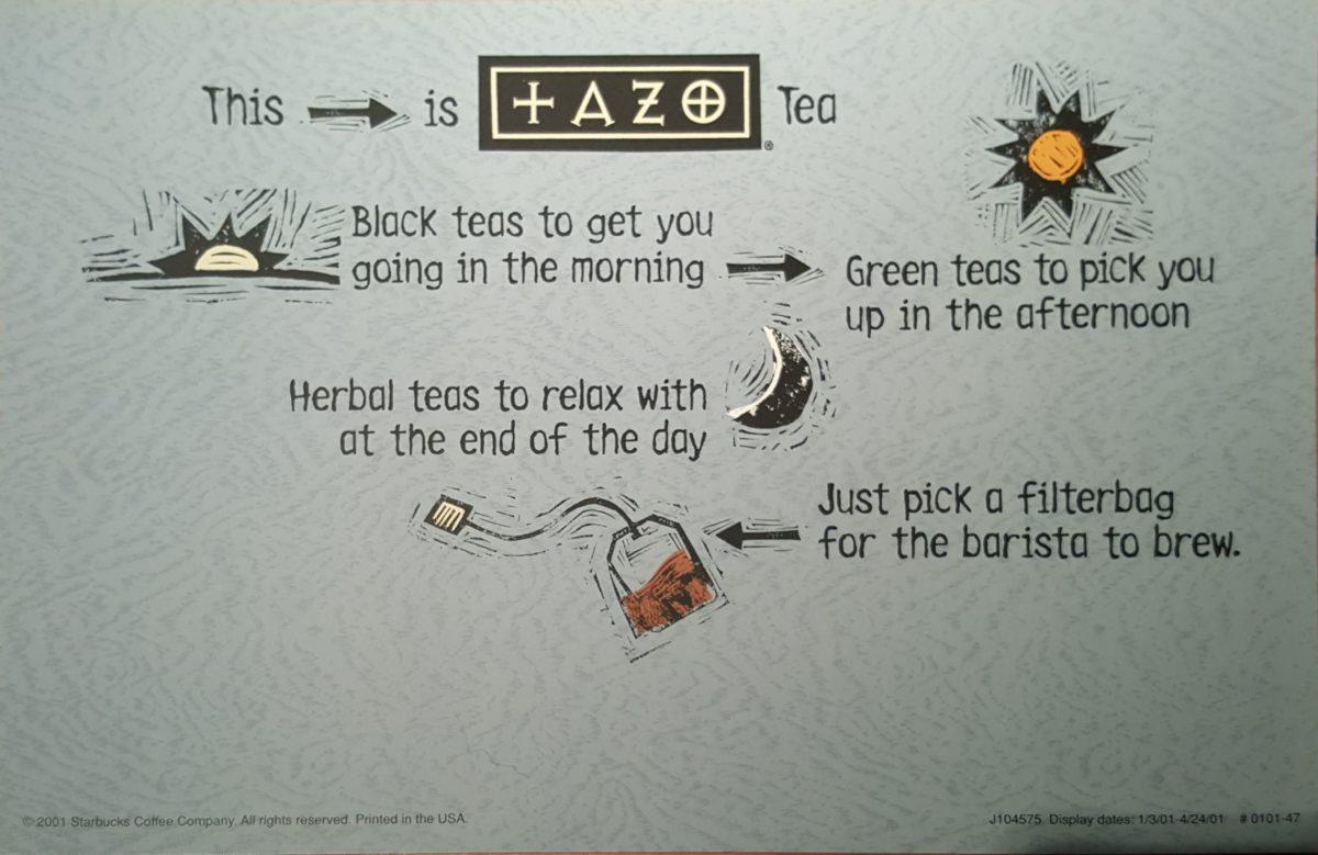 #TBT – Tazo Tea