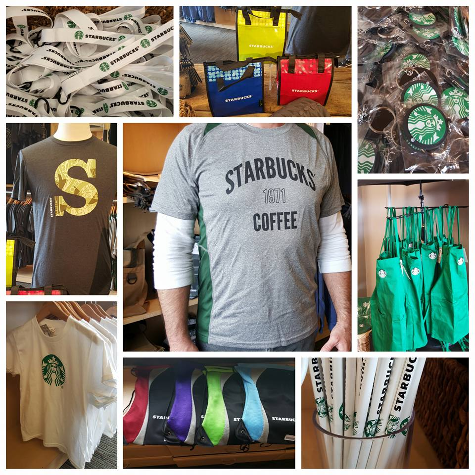 New t-shirts, totes, and more at the Starbucks Coffee Gear store.