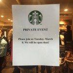 Photo Mar 07, 6 39 35 PM private event sign