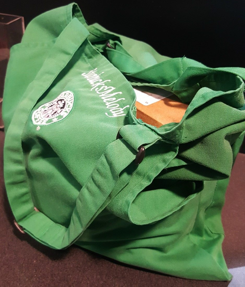 Starbucks upcycling: The Green Apron Tote Bag.