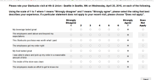 4th and Union Survey Strongly Agree - 21Apr2016