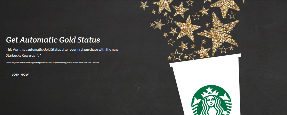 Instant Gold! Today Starts New Starbucks Rewards!
