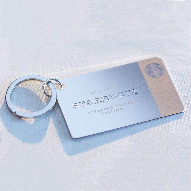 Wow your mom with a beautiful sterling silver Starbucks card!