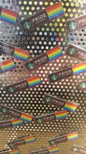 1 - 1 - 20160617_161844 pride pins at the Starbucks Coffee Gear Store