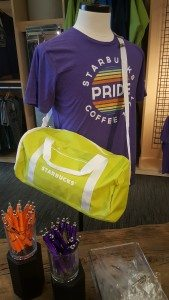 1 - 1- 20160617_162129 pride t-shirt on display at Starbucks Coffee Gear Store