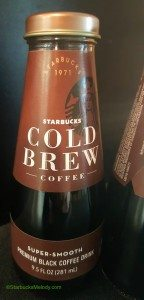 2 - 1 - Starbucks Bottled Cold Brew 29June2016