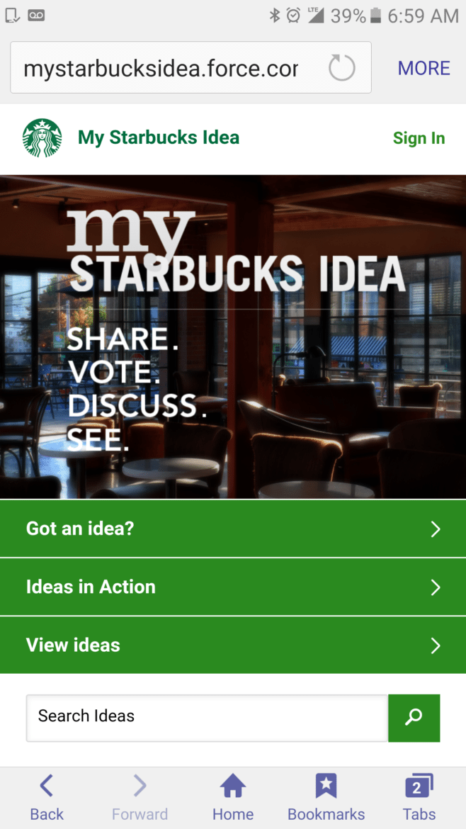 Big Ideas for Starbucks: Barista Hair Color, Driving Routes & More