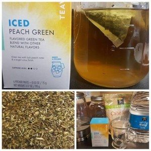 making pitcher iced peach green tea - teavana