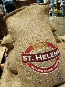 St Helena bag of coffee