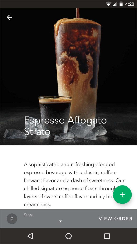 Starbucks_Espresso Affogato Strato - from the app