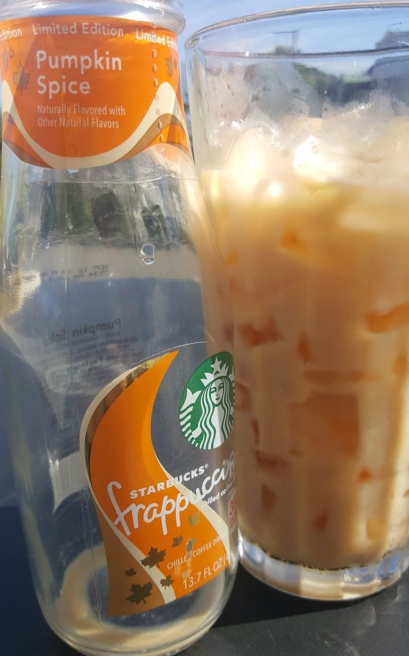 Bottled Pumpkin Spice Frappuccino Lands in Early September. (Melody gets an early taste)