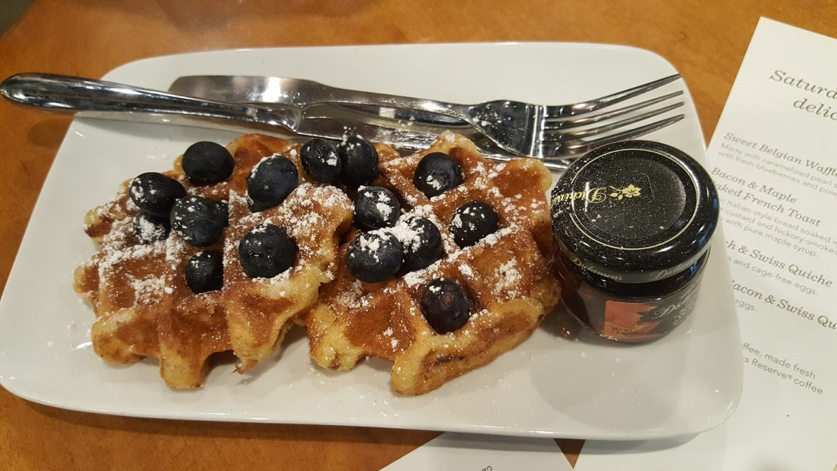 Give me waffles at Starbucks!