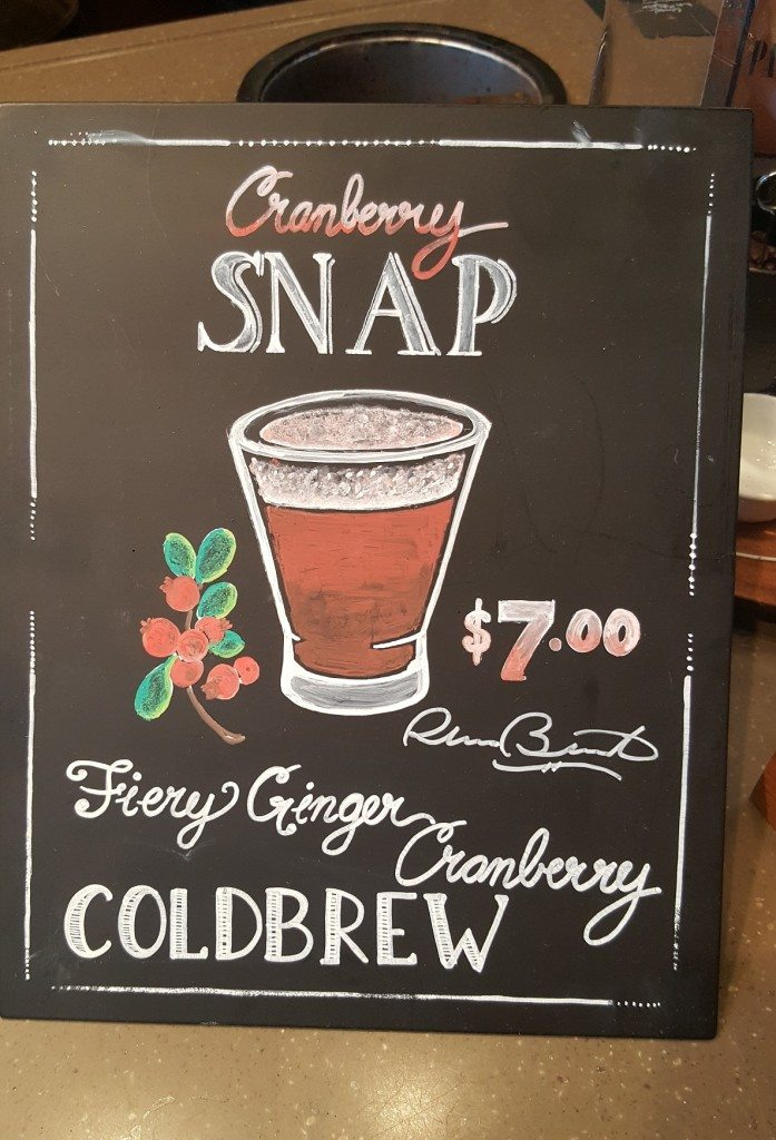20160912_183812 sign for the cranberry snap cold brew