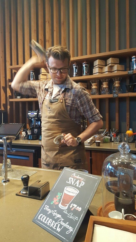 20160912_184542 Ian shakes the cranberry snap cold brew drink