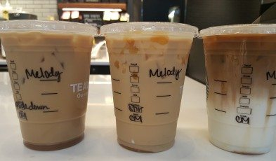 20160917_085228 The 3 Iced Caramel Macchiato - Upside down, stirred, regular