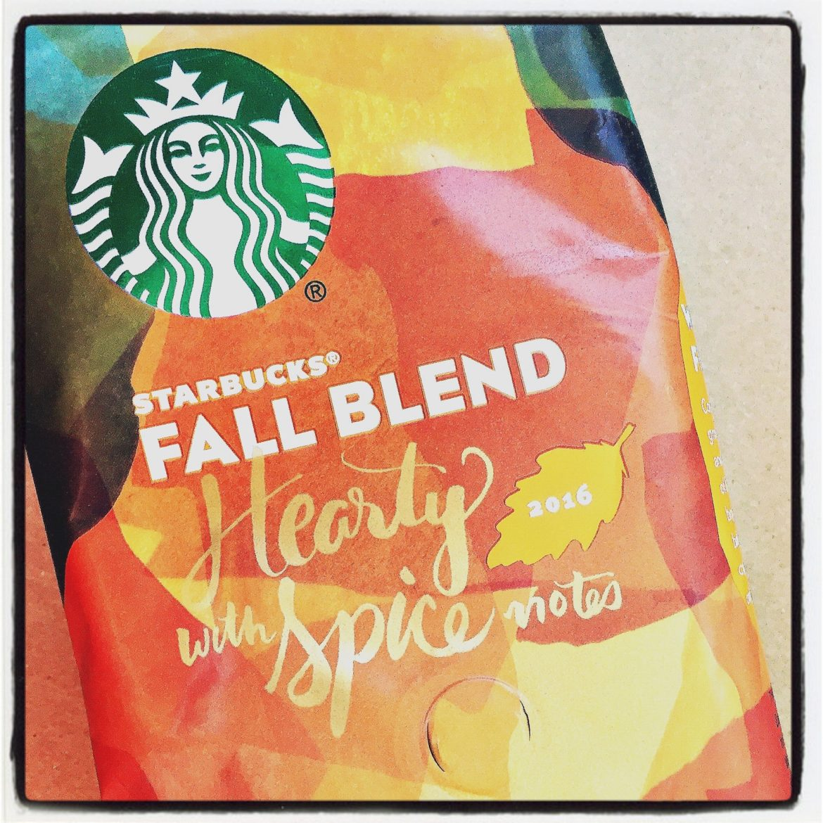 Lots of people don't know about Fall Blend. It's an unknown Starbucks gem.