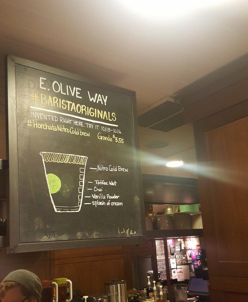 20161015_080944[1] east olive way barista originals Nitro Horchata