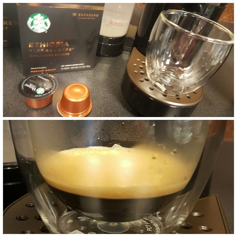 PhotoGrid_1476848774309 Espresso pods and shot of espresso