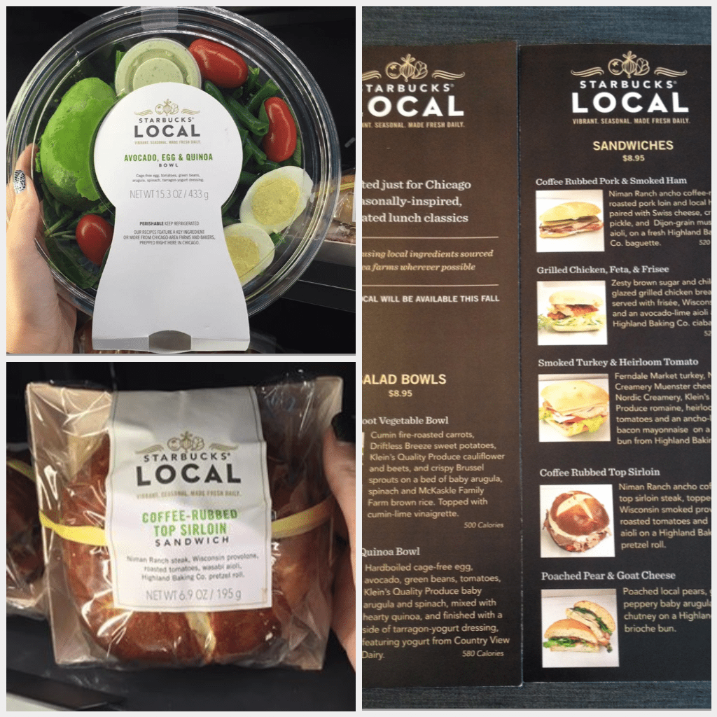 Starbucks and local food: Chicago