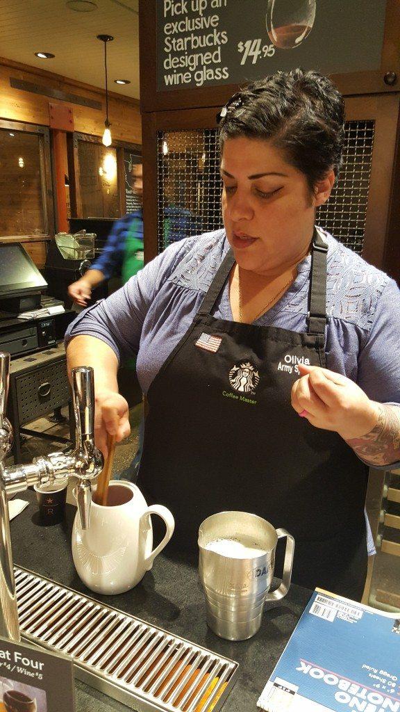20161017_184031 Olivia at East Olive Way Starbucks