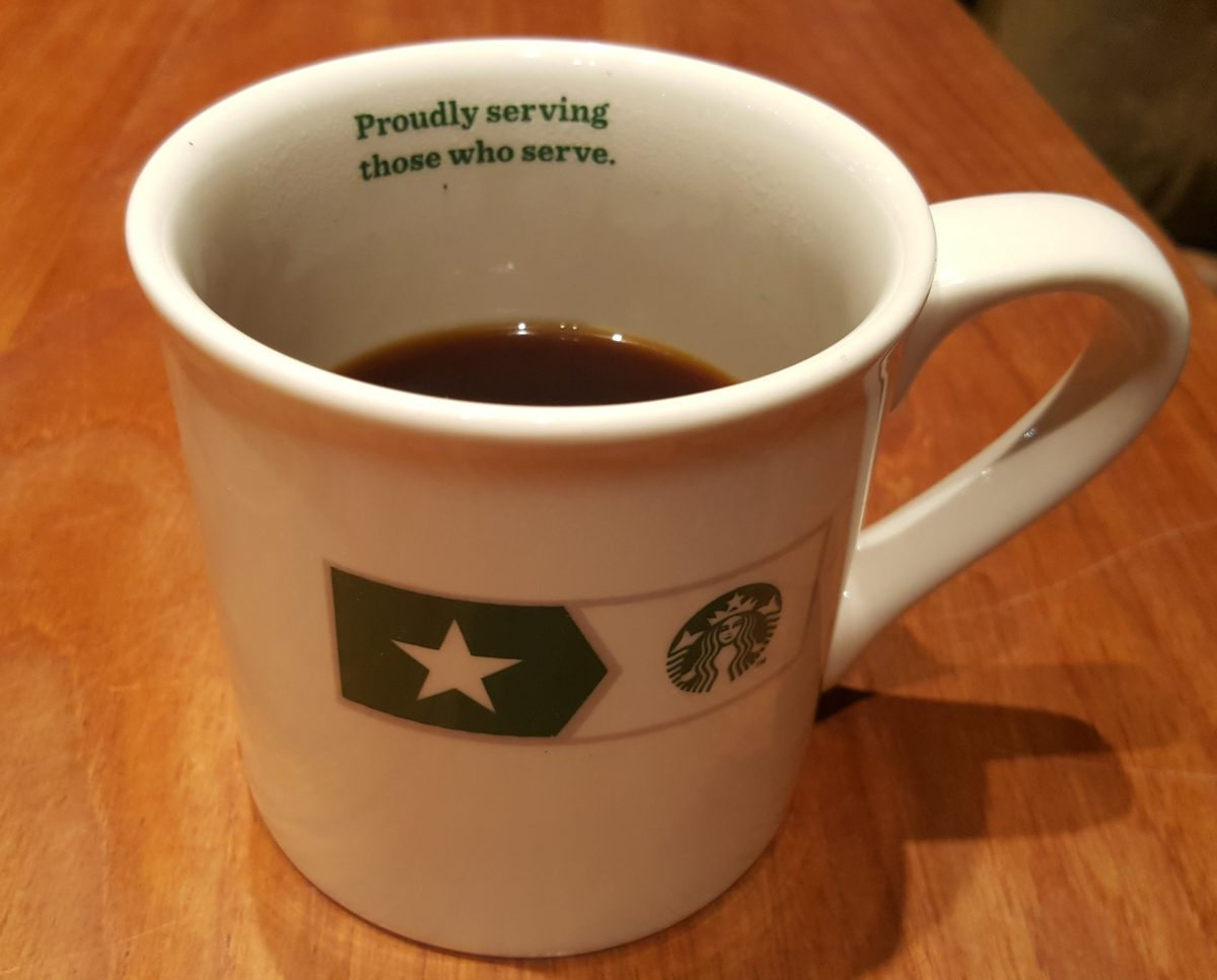 Veterans Enjoy Free Brewed Coffee at Starbucks on Veterans Day.