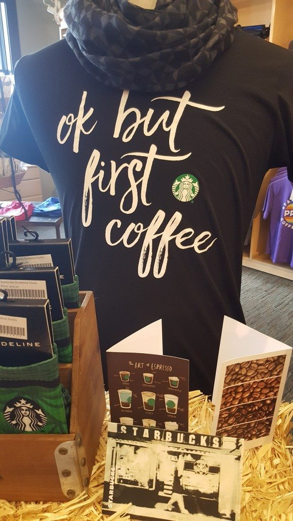 20161111_132736 Starbucks t shirt and cards